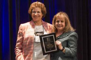 Executive Director of PLAN/NJ, Ellen Nalven, M. Ed, (left) recently received The National Academy of Elder Law Attorneys (NAELA) 2016 President's Award from former NAELA President, Shirley Whitenack, Esq., (right) at The 2016 NAELA Annual Conference in Denver, CO earlier this year.